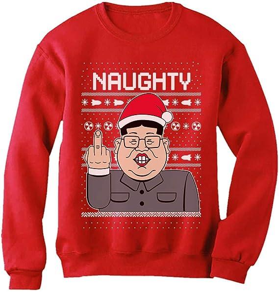 Naughty Funny Kim Jong Un Ugly Christmas Women Sweatshirt