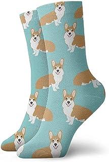 Dydan Tne, Funny Corgi Dogs Calcetines de Vestir Verde Menta Funny Socks Crazy Socks Calcetines Casuales para niñas niños