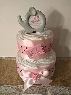 Girl Elephant Diaper Cake Baby Shower