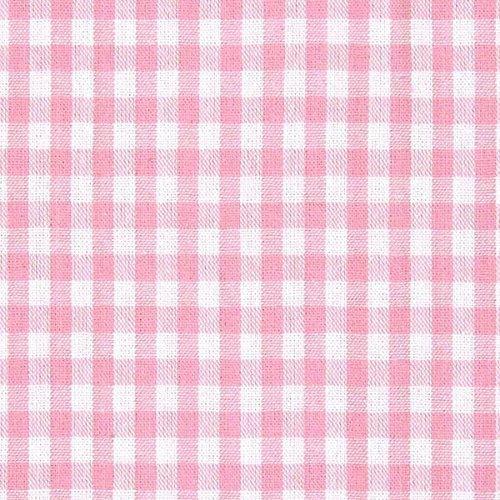 Baumwollstoff Vichy 0,5 cm – rosa — Meterware ab 0,5m — STANDARD 100 by OEKO-TEX® Produktklasse I — zum Nähen von Kissen/Tagesdecken, Tischdekoration & Freizeitkleidung