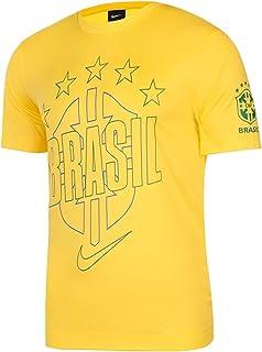 Nike Men's Brasil Brazil Core T Shirt YS Yellow