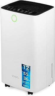 comprar comparacion Turbionaire Senso 12 Deshumidificador portátil, Bajo nivel de Ruido, consumo máx. 185 W 12L/24h para entornos de hasta 55 ...