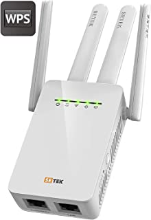 SETEK WiFi Range Extender Signal Booster to 2500 FT, 300 MBPS Wireless Internet Amplifier - Covers 15 Devices with 4 External Advanced Antennas, 5 Working Modes, Overvoltage Protection, LAN/Ethernet