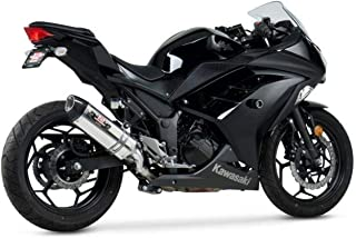 VooDoo Industries VEEX300L3B Black Finish Shorty Exhaust for Kawasaki Ninja 300