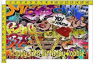 DC Comics Harley Quinn Graffiti Baseball Bat Edible Cake Topper Image ABPID06891-1//4 sheet
