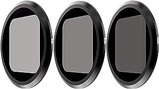 QKOO ND Filter Kit for GoPro Hero 8 Black (Works with Media Mod) - ND8, ND16, ND32 Lens Filter (3-Pack) - Neutral Density ...
