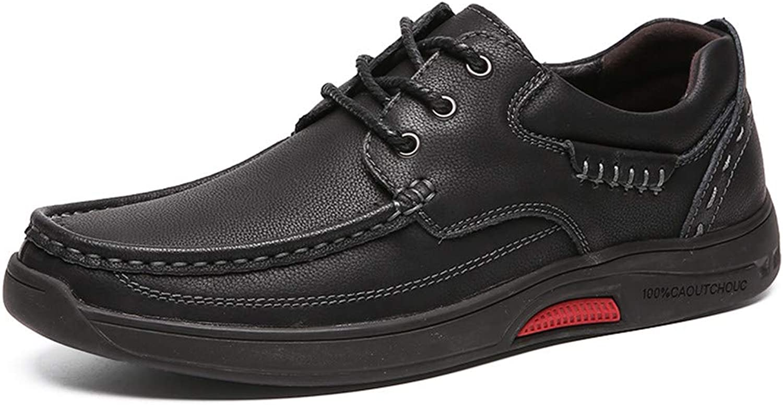 2018 Ny männens Flat Heel Soft Genuine Genuine Genuine läder Classic Design Mode skor (Färg  Svart med spets, Storlek  7 D (M) US)  underbar