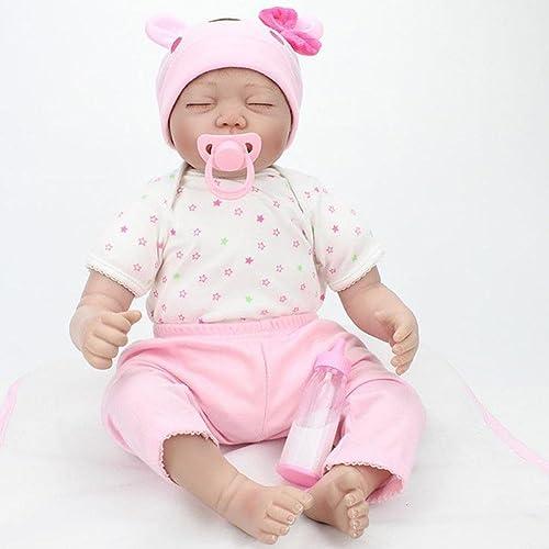punto de venta en línea SHTWAD Simulación Bebé Reborn Paño Cuerpo Ojos Ojos Ojos Cerrado Fotografía Apoyos Navidad Cumpleaños Regalo Juguetes 55cm  Entrega rápida y envío gratis en todos los pedidos.