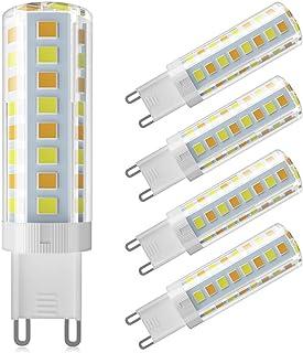 G9 LED Bulb Dimmable Daylight 220-240V Energy Chandelier Warm White 5W 4000K 520LM Saving Lamp 5Pcs