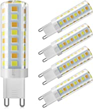 G9 LED Bulb Dimmable Daylight Warm White 5W 4000K 520LM 220-240V Energy Saving Lamp Chandelier 5Pcs