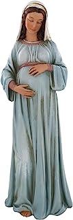 Ferrari & Arrighetti Statuetta della Madonna Gestante, Statua di Maria Incinta, Resina, Multicolore, 20 x 7 x 6,5 Cm