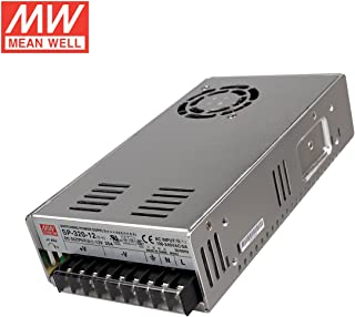 Mean Well SP-320-12 Power Supply, Single Output, 12 Volt, 25 Amp, 300 Watt, 8.5