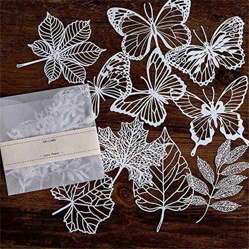 CTOBB Metall Stanzformen Spitze Papier Hohl Geschirr Dekoration Verpackung Muster Runde Fenster Platz Tür Blume Stirbt Scrapbooking, 8