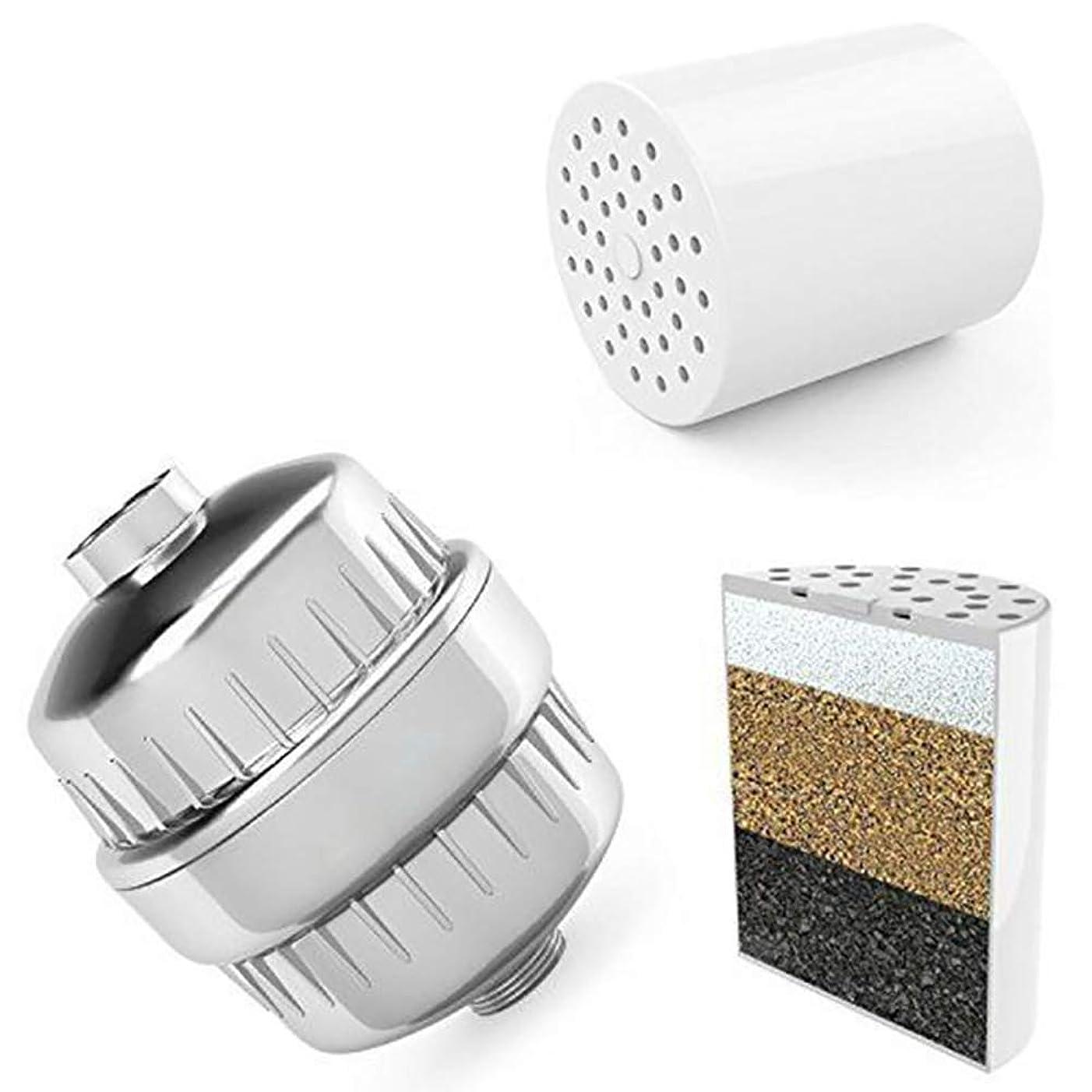 活力滝殺人者ユニバーサルシャワーヘッド浄水器硬水軟化剤治療健康入浴用品 (マルチカラー)