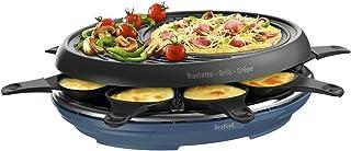 Tefal Raclette Colormania 3 en 1 Appareil à Raclette Grill et Crêpe, Revêtement Antiadhésif Easy Plus, 8 Coupelles, Compat...