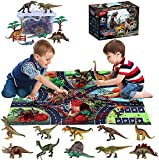 プレイマット木フェンスと図 43 PCSの少年少女時代3アップのために パーティーのための現実的なDinosaAnimal玩具セットパーフェクト教育ギフトを好意 恐竜モデル