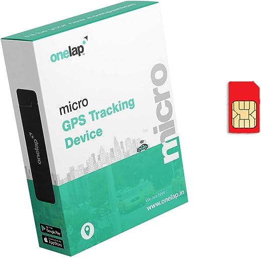Onelap Micro - Hidden Waterproof GPS Tracker for Car, Bike, Bus,Truck etc with 12 Months sim Card