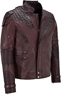 OxMason - Guardians Of The Galaxy Red Leather Jacket - Men