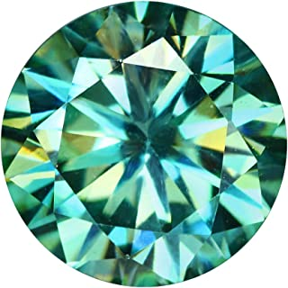 gemhub Moissanite Diamond Loose Stone Excellent Cut 4.00 Ct Egl Certified Green Moissanite for Jewelry Making Gemstone