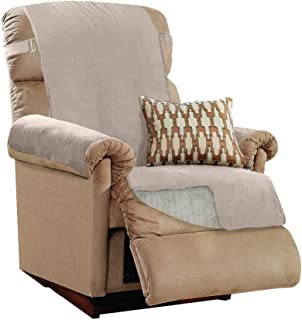 GORILLA GRIP Original Slip Resistant Recliner Protector for Seat Width up to 26 Inch, Patent Pending Suede-Like Furniture ...