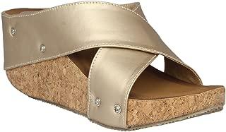 pelle albero Womens Platform Heel sliper PA-LS-403_Khaki