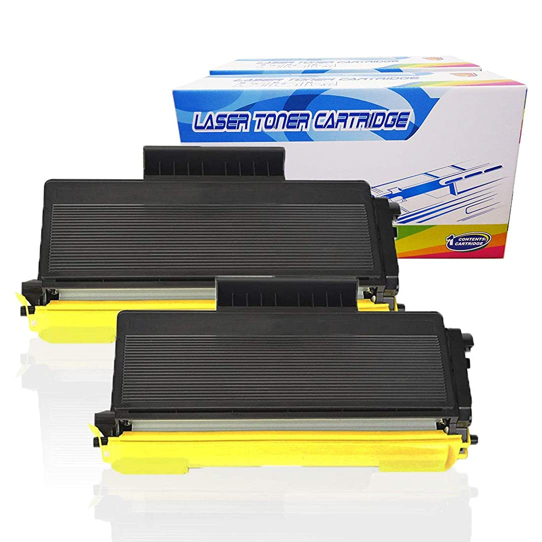 Inktoneram Compatible Toner Cartridges Replacement for Brother TN650 TN620 TN-650 TN-620 DCP-8080DN DCP-8085DN HL-5340D HL-5370DW HL-5370DWT MFC-8480DN MFC-8890DW (Black, 2-Pack)