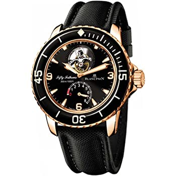 Blancpain Men's 5025.3630.52 Fifty Fathoms Tourbillon Rose Gold Watch