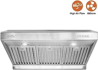 BV Range Hood - 30/36 Inch (800/860/900 CFM) Under Cabinet Stainless Steel Kitchen Range Hoods, Dishwasher Safe Baffle Filters w/LED Lights, Ducted Kitchen Exhaust Fan Hood (30 Inch - 750 CFM/RH-01)