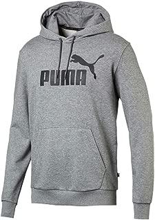 Puma Erkek ESS Hoody TR Big Logo Medium Gray Heather Sweatshirt, Gri