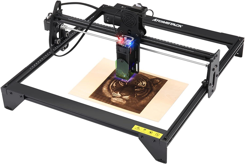 20W Máquina De Grabador Láser, Máquina de grabado láser CNC, máquina De Grabador para tallar, cortar, grabar y marcar con logotipo DIY, 410 X 400 mm