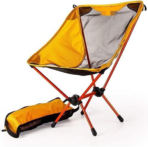 FYLQWERT Chaise de pêche Ultra légère portable Jaune de Jardin Chaise de Camping Tabouret de Camping Pliant mobilier de Jardin