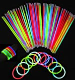 Zoom IMG-1 100pcs glowsticks netboat mixed color