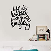 Wall Sticker Removable Home Decor Wall Vinyl Decals Life is Better When You are Laughing
