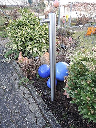 SchneckMetall Wasserzapfstelle Edelstahl Wasserzapfsäule Wasserverteiler Brunnen 1m WS4810