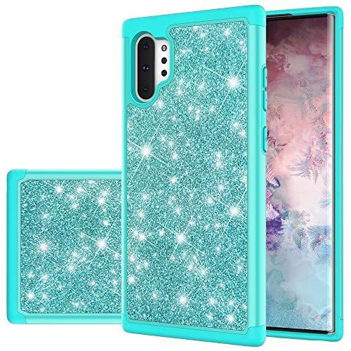 MDYHMC YXCY AYDC para Samsung Galaxy Note 10+ Glitter Powder Contraste Piel Silicone + PC Funda Protectora (Color : Green)