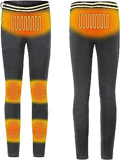 Yokbeer Heated Pants,Men Women Electric USB Heated Warm Pants Winter Warmer Heated Pants,Washable Thermal Heated Pants Ins...