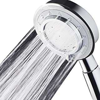 Nosame Shower Head,Universal Bath Shower Water Saving High Pressure 3 Mode Function Spray Showerheads for Dry Skin & Hair
