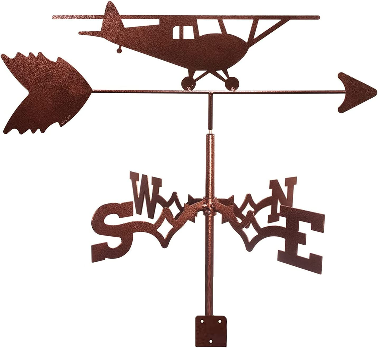 Weathervane Helicopter Stainless Max 56% OFF Steel Weather Meta Vane safety Outdoor