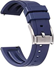 HUAFIY Premium Quality Waterproof Silicone Watch Bands - Choose Color & Width 20mm, 22mm,24mm Rubber Straps.Quick Release Rubber Watch Bands for Men