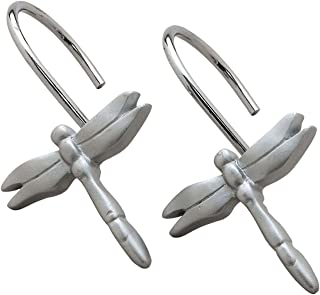 Creative Bath Products Dragonfly Shower Curtain Hooks-12 count
