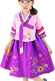 Girls Toddler Korean Hanbok Traditional Outfit Dress Costume