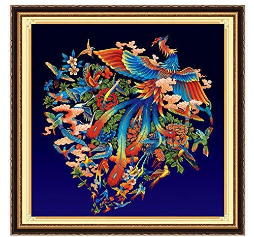 Diamant Schilderij Kit 5D Cross Stitch DIY Nieuwe Rode Phoenix Vogel Tekenen Crystal Picture Mozaïek Strass Borduurwerk Geschenken 40X50Cm