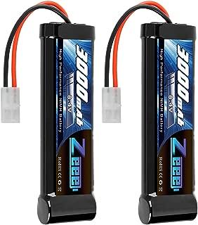 Zeee 8.4V 3000mAh RC Battery High Power NiMH Battery with Tamiya Plug for RC Car Traxxas LOSI mAssociated HPI Tamiya Kyosho(2 Pack)