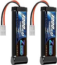 Zeee 8.4V 3000mAh RC Battery High Power NiMH Battery with Tamiya Plug for RC Car Traxxas LOSI Associated HPI Tamiya Kyosho(2 Pack)