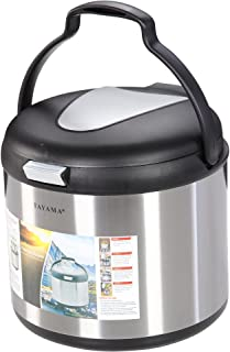 Tayama TXM-70CFZ Energy-Saving Thermal Cooker, 7 quart, Black,