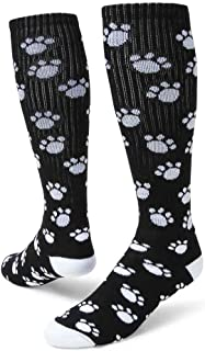 Red Lion 793423UT Paws Knee High Sock ( Black / White - Small )