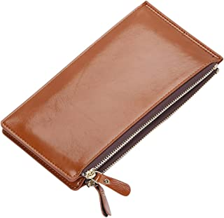 Wiwsi Portable Candy Color Womens Clutch Long Wallet Card Holder Purse Handbag