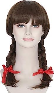 Missuhair Long Brown Annabelle Wig - Girl's Braided Hair Accessories Conjuring Cosplay Wig