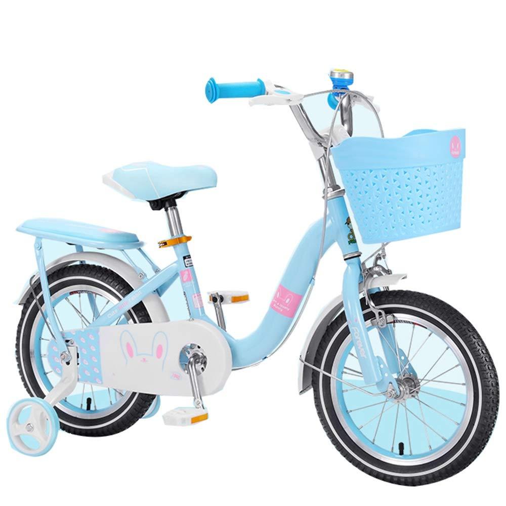 YUMEIGE Bicicletas Bicicleta para niña Tubo Engrosado con Ruedas de Entrenamiento, Bicicletas 12 14 16 18 20 Pulgadas, Bicicleta Infantil, 2-9 Regalos para niñas y niños Disponible: Amazon.es: Jardín