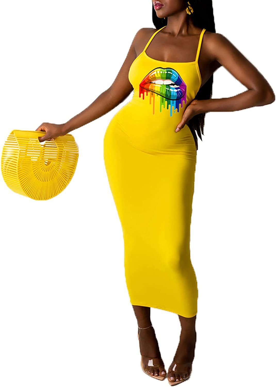 ThusFar Women's Summer Casual Sleeveless Long Dress Ruched Stretchy Bodycon T Shirt Dresses